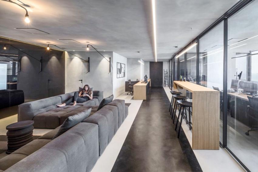 以色列特拉维夫的灰色办公室Θ˙‵╊▽ˇ┅ˇˊ_秦皇岛景观设计培训