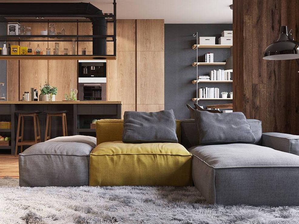 圣彼得堡顶层公寓 用木质打造温润舒适生活空间