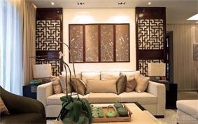 新古典客厅背景墙效果图