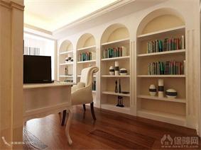 混搭书房书柜效果图
