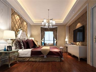 本案室内设计采用的是简欧风格,白色作为主色调浅色为