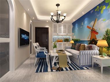 本案室内设计采用的是地中海风格,当疲惫的身心对家的