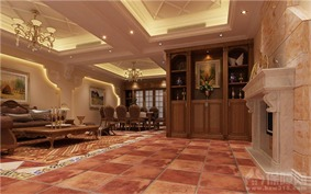 山水英伦-欧式风格客厅