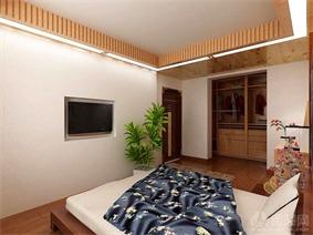 日式卧室衣柜效果图