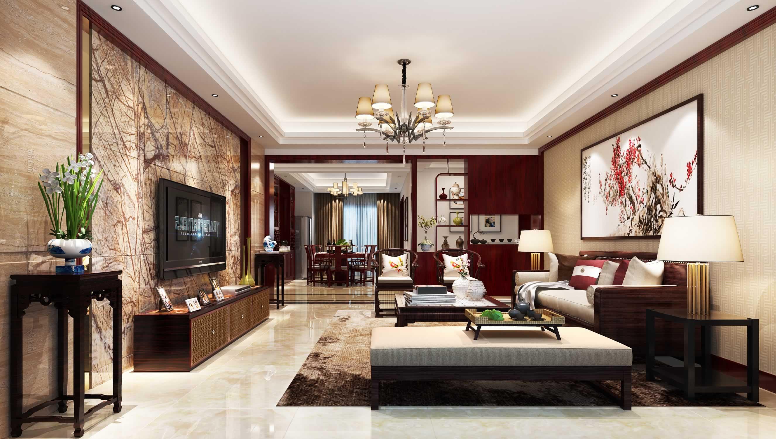 客厅瓷砖铺贴效果图展示