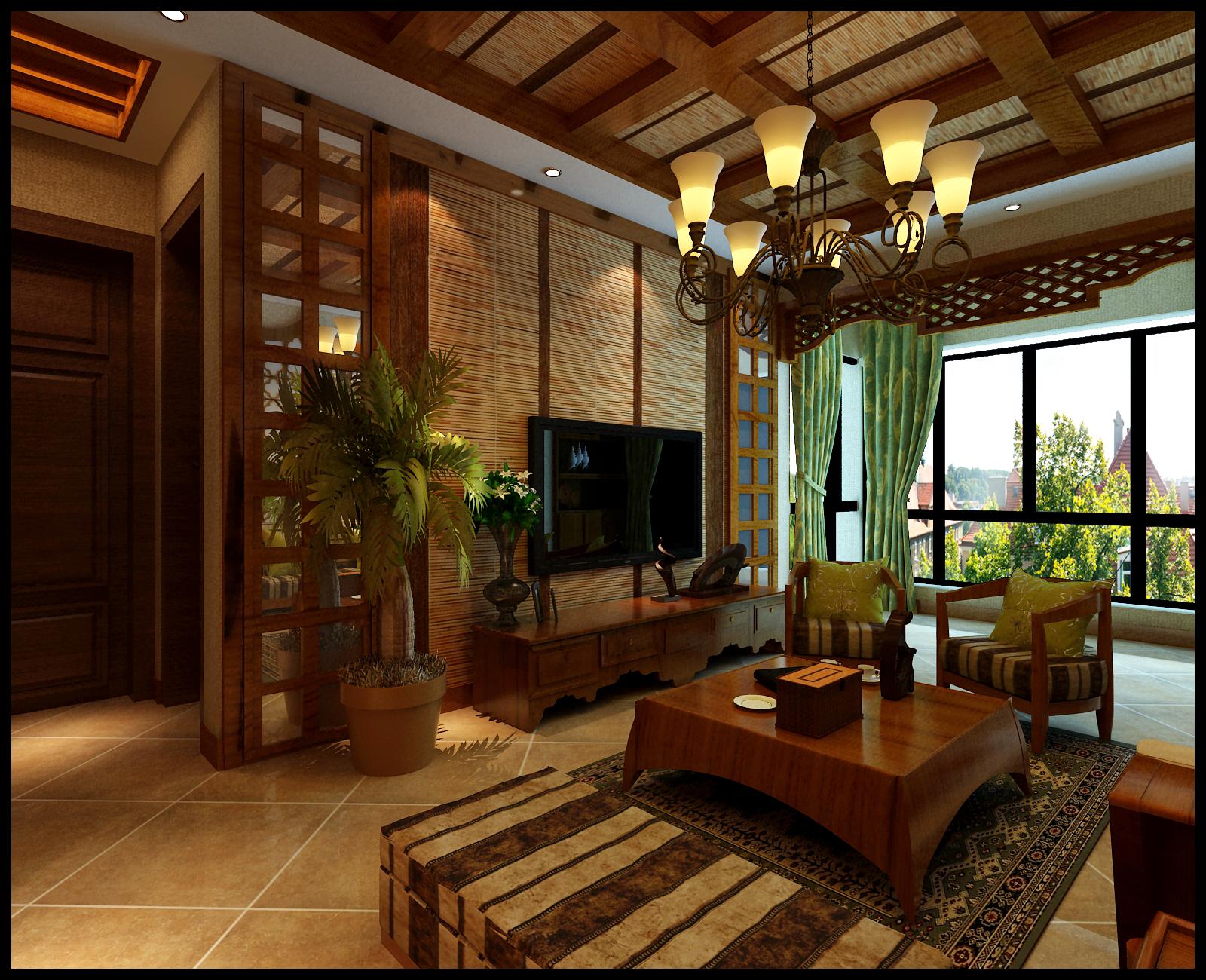 中式房屋木结构脊梁